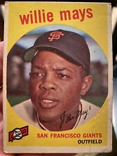 New listing 1959 Topps Willie Mays #50 Baseball Card