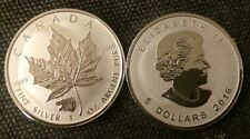 2016 - Grizzly Bear Privy Maple Leaf Reverse Proof 1 Oz .9999 Silver Coin