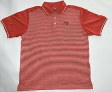 Ahead Extreme Bay Hill Stripped Golf Polo Shirt Mens Salmon Pink Size M