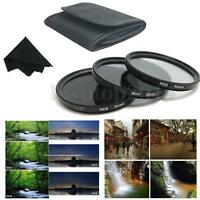 52mm Neutral Density ND2 ND4 ND8 Camera Lens Filter&Pouch For Canon/Nikon DSLR