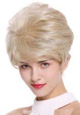 PERRUQUE pour femme court Perruque volumineux blond gris méché Mix dw2461