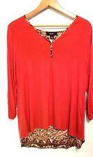 Naif womens L 3/4 Sleeve Layered tunic Blouse Shirt Top SUPER CUTE BACK