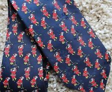 "HALLMARK CHRISTMAS TIE Santa Golfing Holiday Novelty Necktie SpecialTies 56x3.5"""
