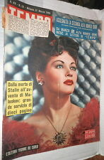 TEMPO 21 Marzo 1953 Yvonne De Carlo Jorgensen Clelia Calvi Doge Lillo Plozzer di