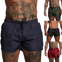Men Summer Swim Shorts Beach Swimsuit Swim Trunks Swimwear Fitness Sports Shorts