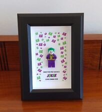 Unique personalised Joker Dad Gift Frame Birthday, Xmas AFOL