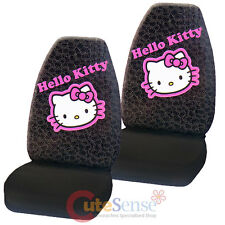 Hello Kitty Car Seat Cover Auto Accessory 2PC Front Seat Covers Set - Collage