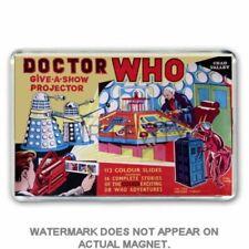 RETRO 60's -DOCTOR WHO -GIVE A SHOW PROJECTOR  JUMBO FRIDGE / LOCKER MAGNET