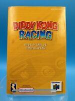 jeu video notice BE nintendo 64 NFAH diddy kong racing