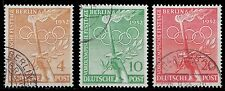 1952 GERMANY OCC. BERLIN PRE OLYMPIC FESTIVAL DAY ISSUE USED SCOTT  9N81-9N83