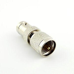 1pcs Mini UHF Male Plug To BNC Female Jack Straight Center RF Adapter Connector