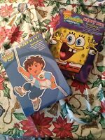 Spongebob SquarePants Kit & Go Diego Go Fun Kit---  2 Kits~~Easter Basket Ideas
