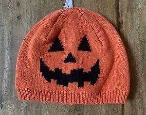 Gymboree Halloween Pumpkin/Jack O'Lantern Beanie Hat Size 12-24 Months - New