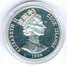 """Cook Inseln 50 Dollar 1996 """"Marathon/Biatlon"""" 28,28g 925er Silber, PP-"""