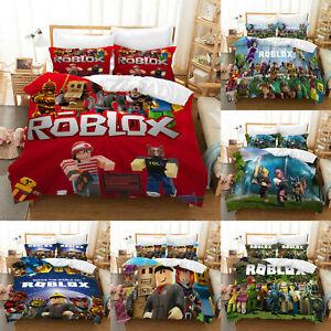Roblox 3PCS Bedding Set Kids Quilt Duvet Cover Pillowcases Comforter Cover Gift