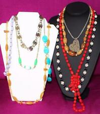 Bulk Lot 9 Vintage Necklaces Mixed Very Good Re-sell Market Stall Harvest 107