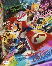 CHARLES MARTINET~SAMANTHA KELLY+1 Signed SUPER Mario Kart 8 8x10 photo JSA COA B