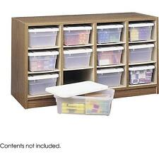 Craft Cabinet Organizer Parts Storage Drawer 12 Bins Plastic Sorter Box Supplies