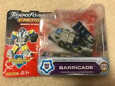 Hasbro Transformers Energon BARRICADE Decepticon Deluxe Figure BRUTICUS MAXIMUS