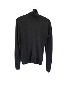 John Smedley Merino Wool Grey Roll Neck Size S