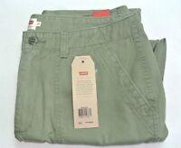 Levi's Women's Utility Chino Casual Pants 31 Hazy Deep Lichen Green Cotton New