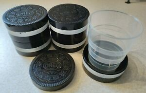 5 OREO COOKIE COLLAPSIBLE CUP LOT Promo drink camping travel advertising novelty