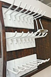 """The Container Store 26 pieces WHITE 4"""" Gridwall Hooks Grid Panel Display Hanger"""