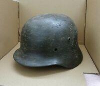 """WW2 German Helmet M35/64 Repaint """"Field Camo"""" - Wehrmacht Original Dug relic"""