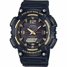 Casio AQS810W-1A3V, Solar Analog/Digital Watch, Black Resin, 100 Meter, 5 Alarms
