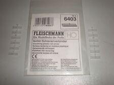 Fleischmann # 6403 # H0 # 1 Satz = 12 Stk.  Isolier - Schienenverbinder # OVP #