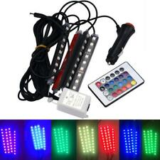 4x RGB 9LED Remote Control Car Charge Interior Floor Foot Atmosphere Light Strip