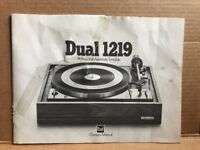 DUAL 1219 Turntable Owner's Operating Instructions Manual Torn Germany Cheap