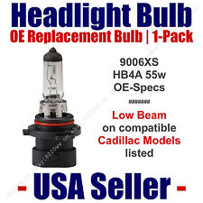 Headlight Bulb Low Beam OE Replacement 1pk Fits Listed Cadillac Models 9006XS