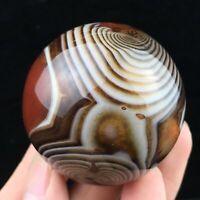 Natural Quartz Crystal lace agate Sphere Ball Reiki Silk agate ball Healing 60g+