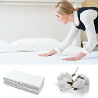Hotel Bettlaken Laken Betttuch ohne Gummizug 160 200 220 240 cm 100% Baumwolle