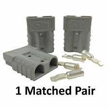 2X ANDERSON PLUGS 50 AMP MATCHED PAIR HEAVY DUTY