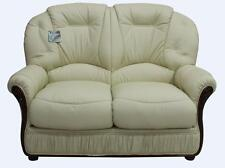 Debora 2 Seater Cream Italian Leather Sofa Settee