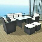 7 Seater Dining Sets Outdoor Patio Cushioned Chairs Set Table Garden Furniture