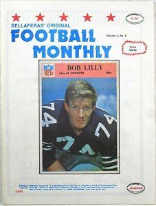 VINTAGE DELLAFERAS' FOOTBALL MONTHLY November 1989 BOB LILLY Volume 1 No. 6