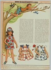 1972 McCalls Paper Dolls Betsy McCall Daddy Is A Hero Print Ad