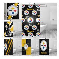 Pittsburgh Steelers Fabric Waterproof Shower Curtain Bathroom Accessory Set Gift