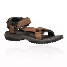 Sandali da sport marrone con velcro per il mare da uomo