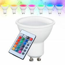RGB LED GU10 Leuchtmittel 4 Watt Farbwechsel Fernbedienung Reflektor dimmbar