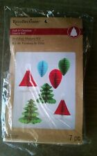 NEW Recollections HONEYCOMB PAPER Christmas Decorations w/ Hanging Loop