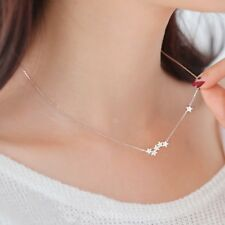 Sterling Silver Star Necklace Pendant Christmas Birthday Gift for Wife Accessory