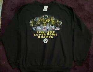 NWT Pittsburgh Steelers Super Bowl Champion Sweatshirt NFL 2006 XL