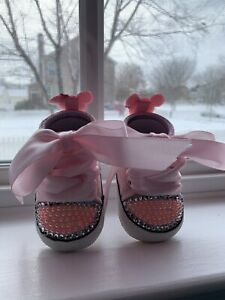 NEWBORN CRIB TENNIS PINK BABY BABY SHOES SIZE 1