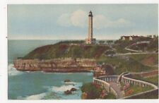 Biarritz Phare & Nouveaux Jetees Vintage Postcard France 344a ^