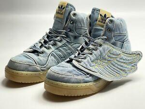 Adidas Originals sneakers Jeremy Scott Wings Denim shoes JS Blue v24621 size 9,5