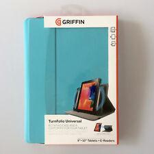 Folleto Funda Turnfolio 9-11 Pulgadas Universal Protectora para Tableta Azul